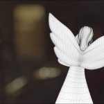 Porcelain angel Cinema 4D wireframe behind the scenes